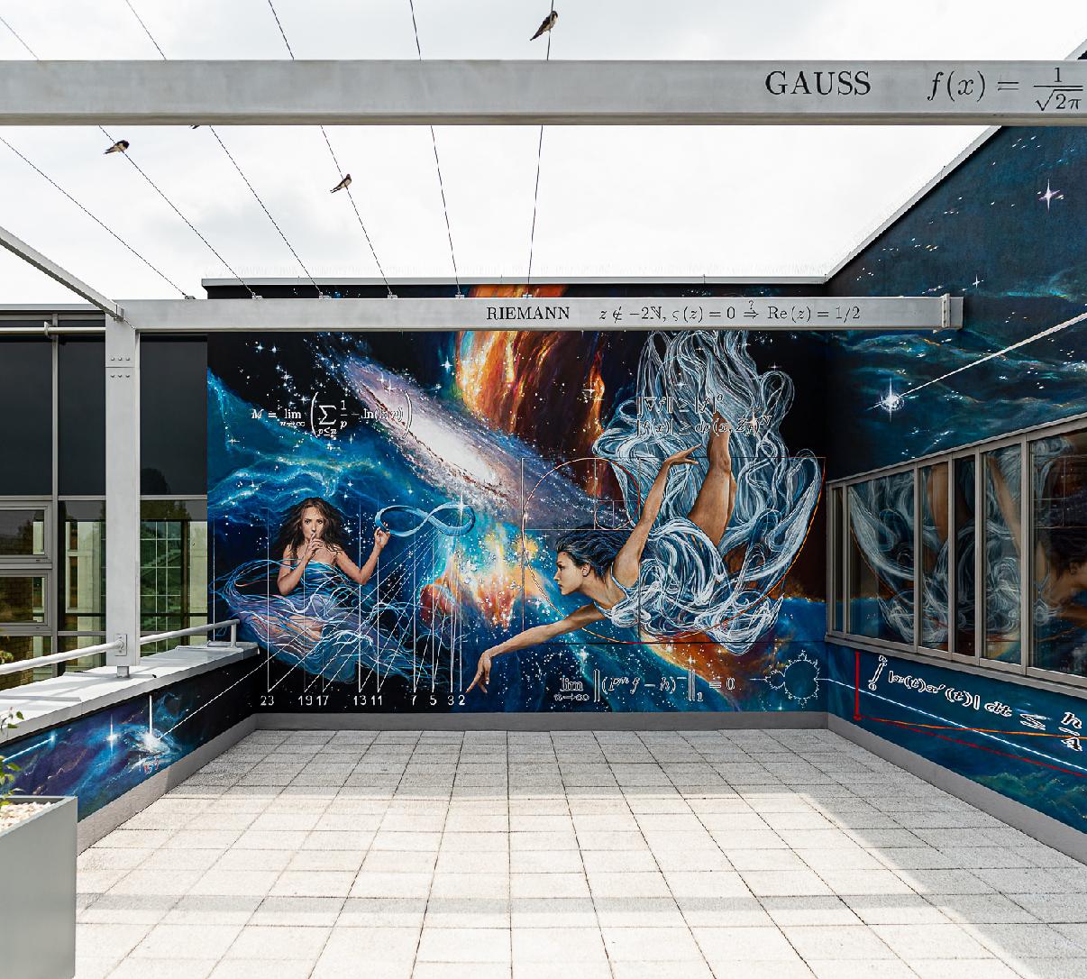 miniatura Mural na Wydziale Matematyki i Informatyki UJ