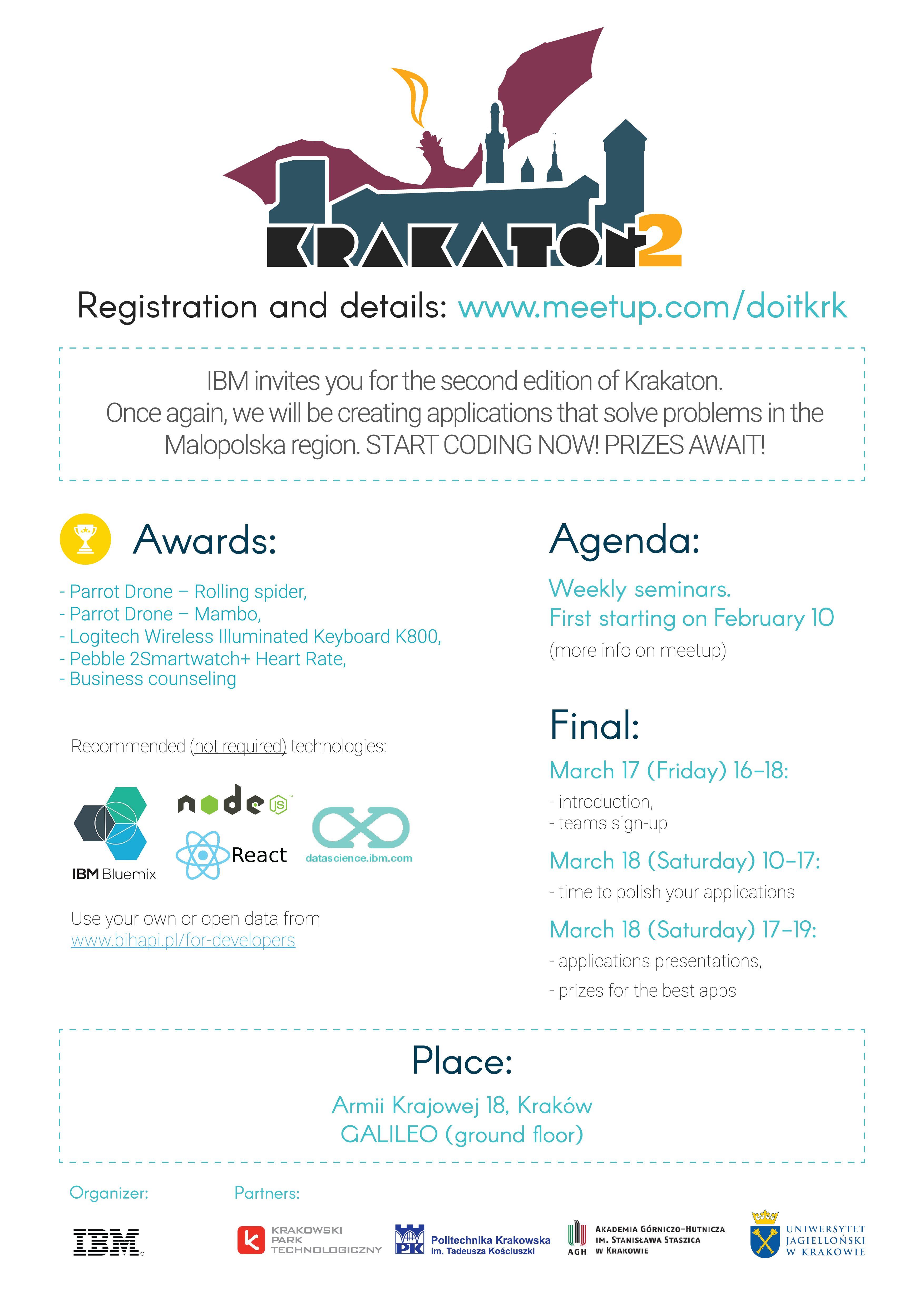 miniatura IBM Polska zaprasza na konkurs Krakaton2